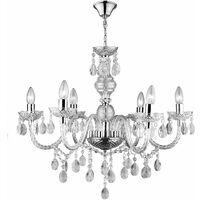 Lampadario in vetro 6 punti luce lampada a sospensione soffitto gocce cristallo