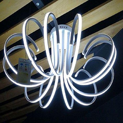 Lampadari Neon Moderni.Lampadario Lampada 12 Neon Luce Led Soffitto Sospensione Pendente Moderno Design