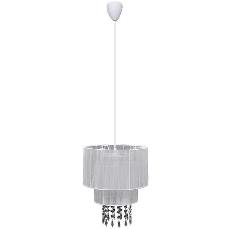 Lampadario Lampada da Soffitto in Cristallo Bianco