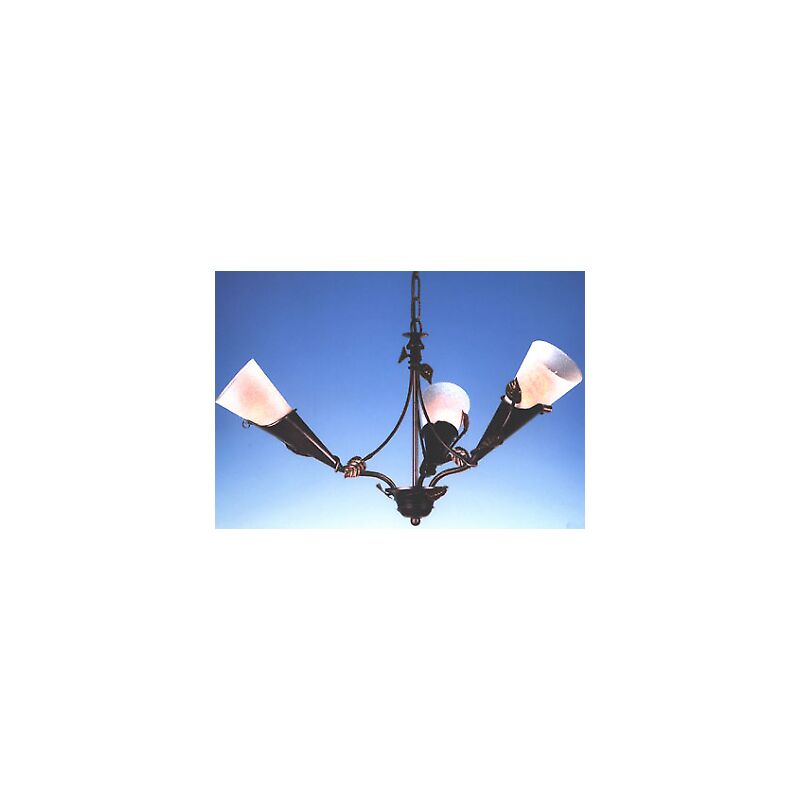 Lampadario lampada wonderful 3 luci ferro battuto cruccolini