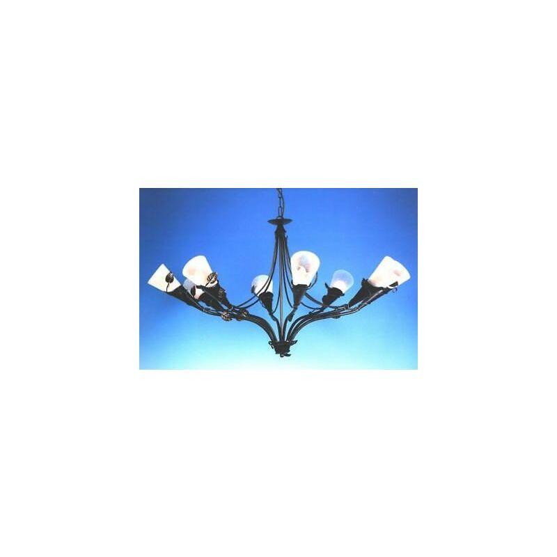 Lampadario lampada wonderful 8 luci ferro battuto cruccolini