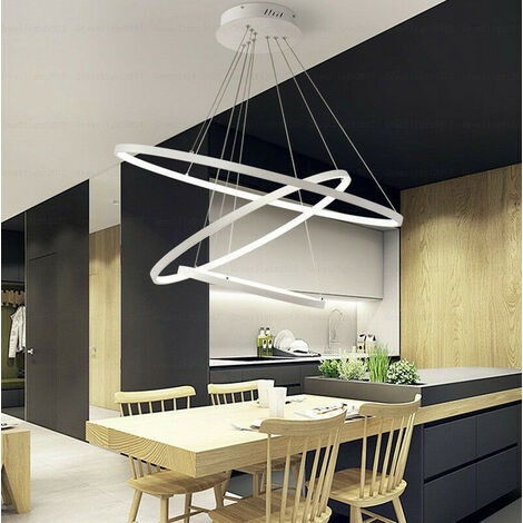 Lampadario LED design moderno ad anelli sospesi