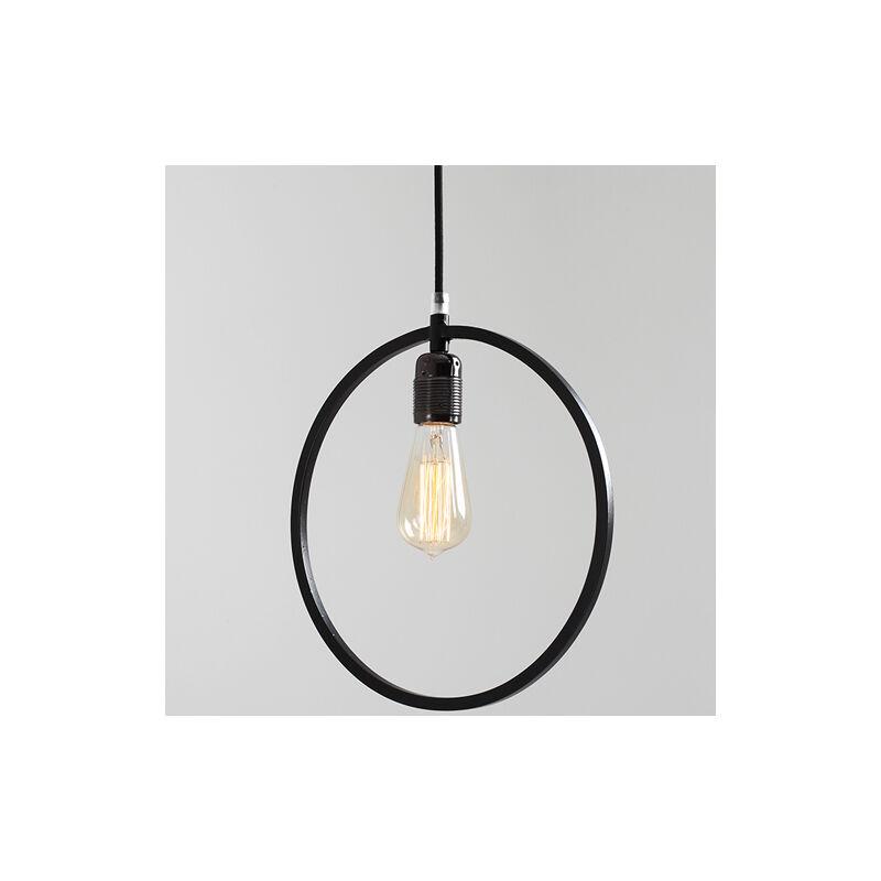 Pidema - Lampadario piatto in metallo Customform, colore nero. Lampadari sospensione design moderni soggiorno.