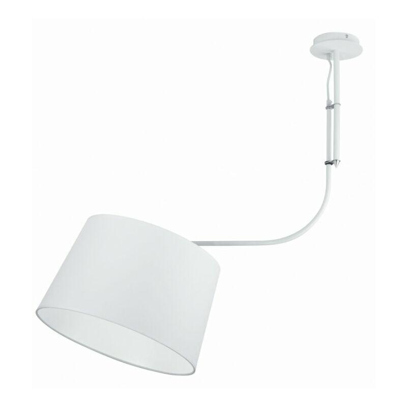 Lampadario a sospensione bianco dalla forma semplice 60 watt E27