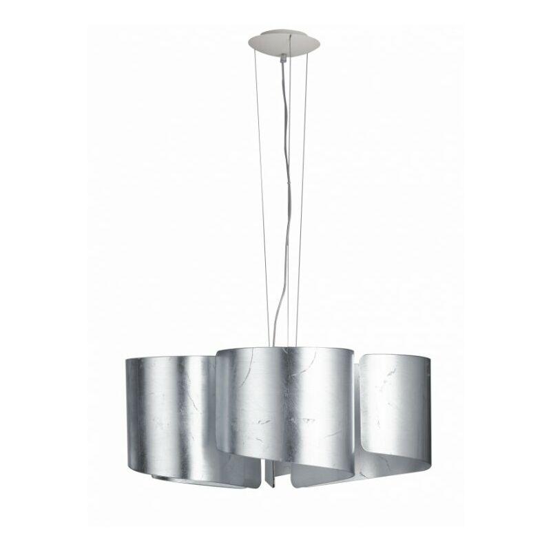 Lampadario a sospensione a petali argento 60 watt E27
