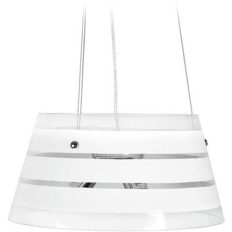 Lampadario Sospensione Moderno Circolare Vetro Trasparente Fasce ...
