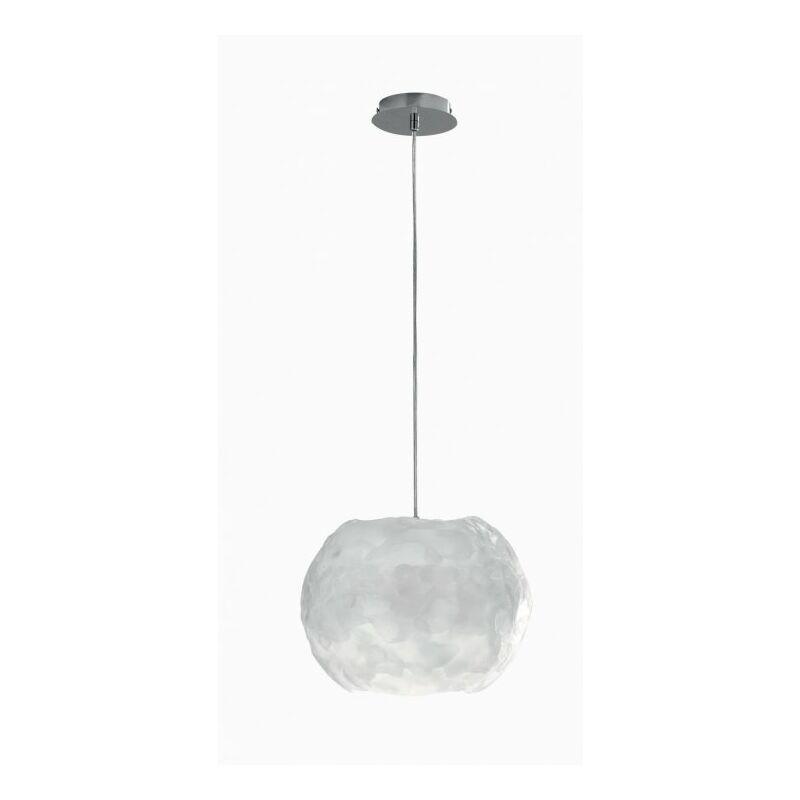 Lampadario sospeso sferico simil ghiaccio 60 watt E27