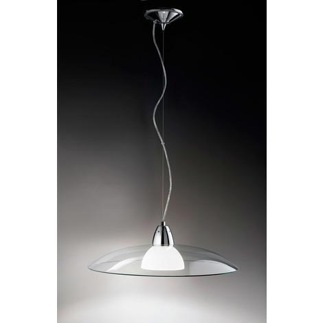 Lampadario Vetro trasparente e bianco PERENZ 4788