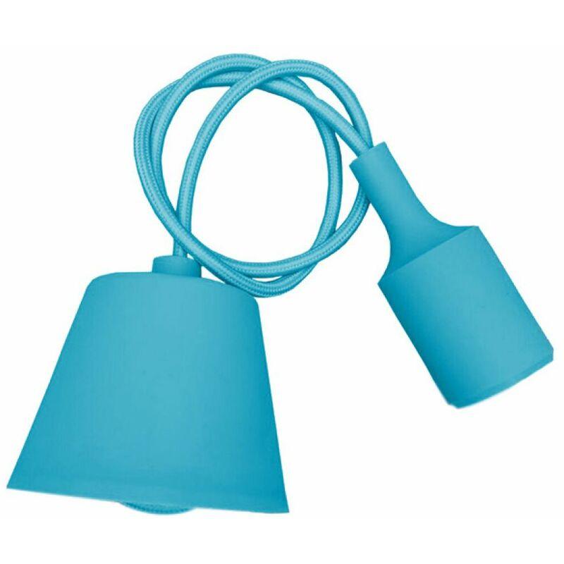 Portalampada a Sospensione E27 (Max 60W) in Silicone Azzurro