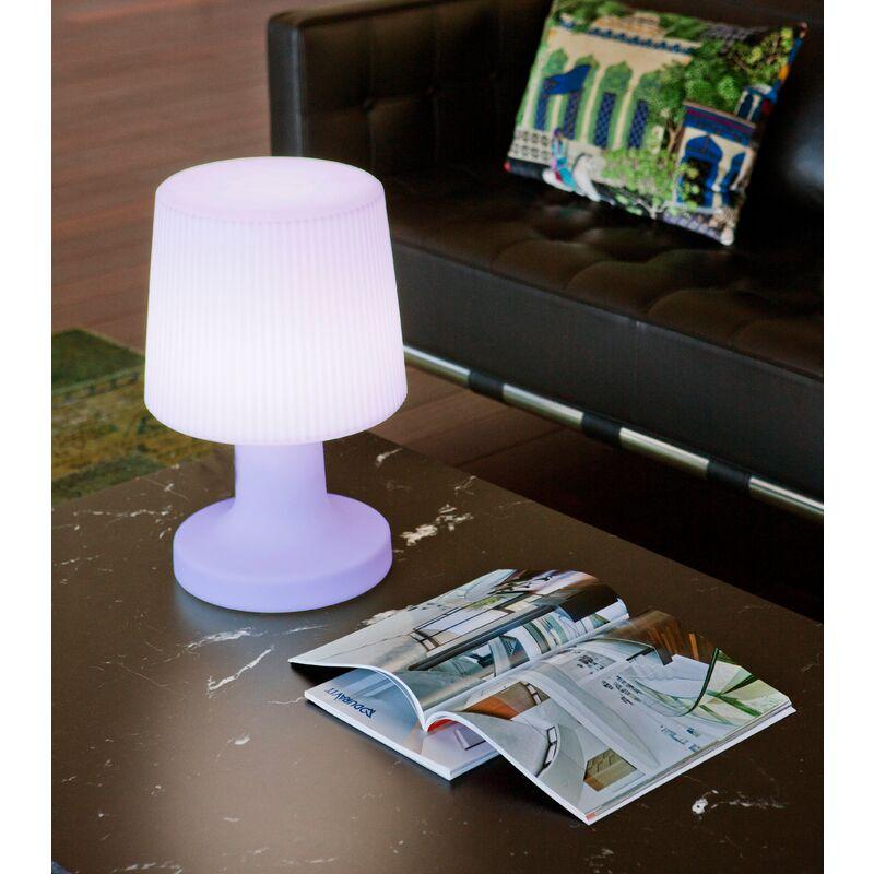 Lampade da tavolo Carmen 45 BATERÍA RECARGABLE (USO EXTERIOR E INTERIOR) RGB + BIANCO - Moovere