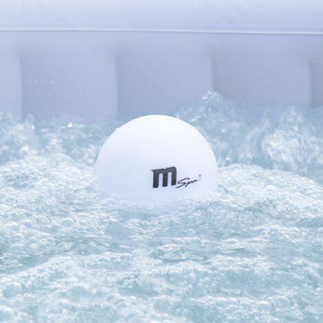 """main image of """"Lampade galleggianti per spa MSPA Ø12cm, luce per spa a LED, 16 colori, ricaricabile, telecomando - Bianco"""""""