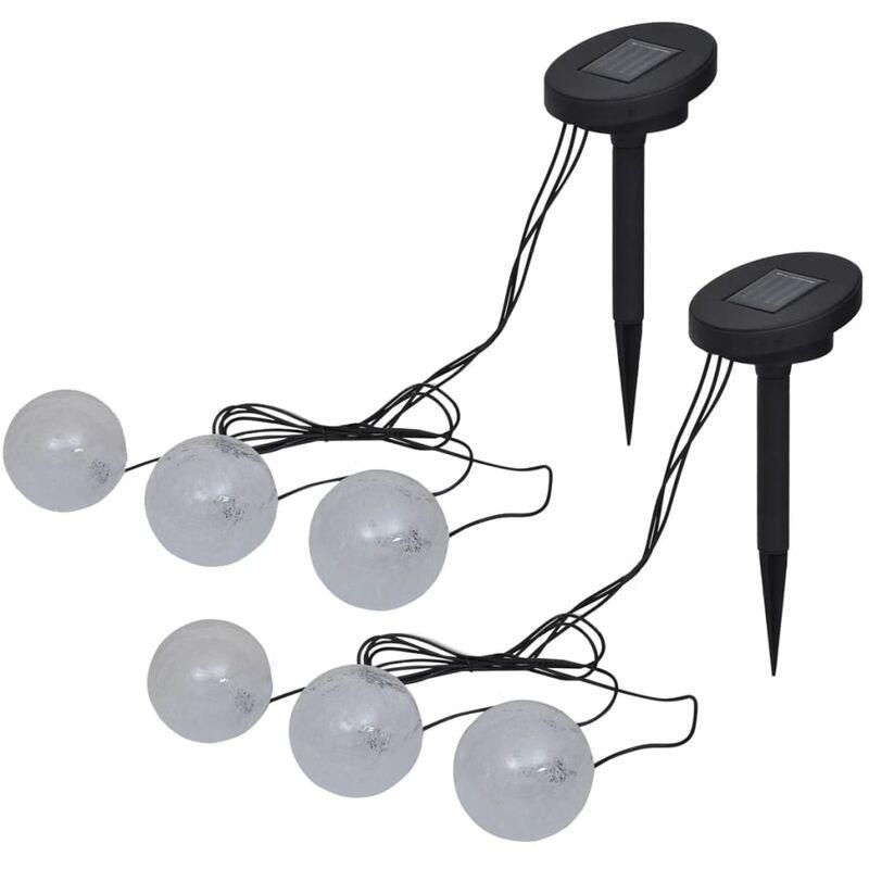 vidaXL Lampade LED Galleggianti 6 pz per Stagno e Piscina - Blanco