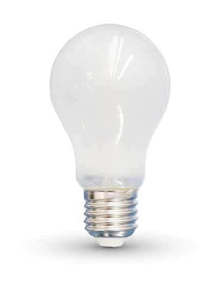 VT-1939 Lampadina Bulbo LED filamento A60 Vetro Opaco 4W E27 2700K - 4489 - V-tac