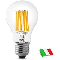 Lampadina a Filamento LED E27 A60 8W 4000K° Wiva