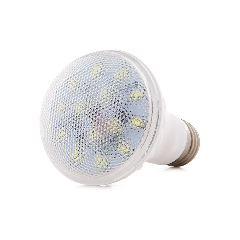 Greenice - Lampadina a LED Ceramica R63 E27 7W 460-560Lm 30.000H   Bianco Caldo (HO-7W-R63-E27-CW)