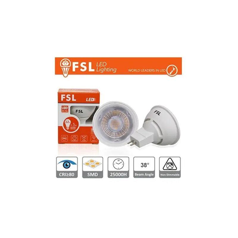 lampadina a led mr16 ac-dc 12 volt 25000 ore 38° 6 watt A+ CE GX5,3 bianco freddo no lif flmr166w65k38