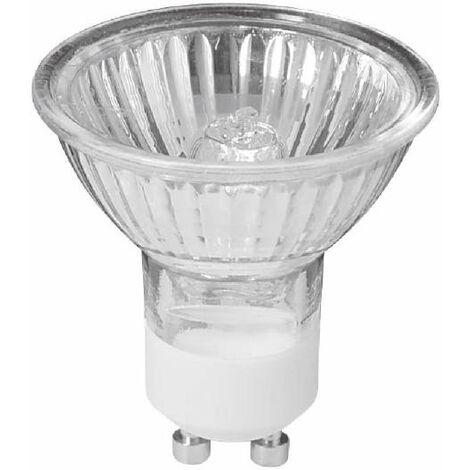 lampadina alogena faretti 20 watt 2000 ore 220-240 volt 38° CE GU10 bianco caldo si trasparente viv 000119