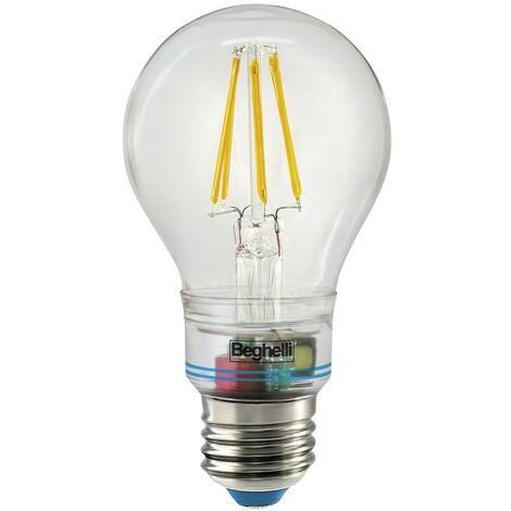Lampadina Beghelli zafiro LED 6W 2700K luce calda Anti BLACKOUT 56305