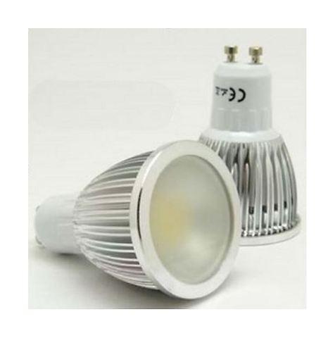 Lampadina-Faretto A Led 'Cob' Gu 10 3 Watt Luce Fredda-- Risparmio Energetico - J69