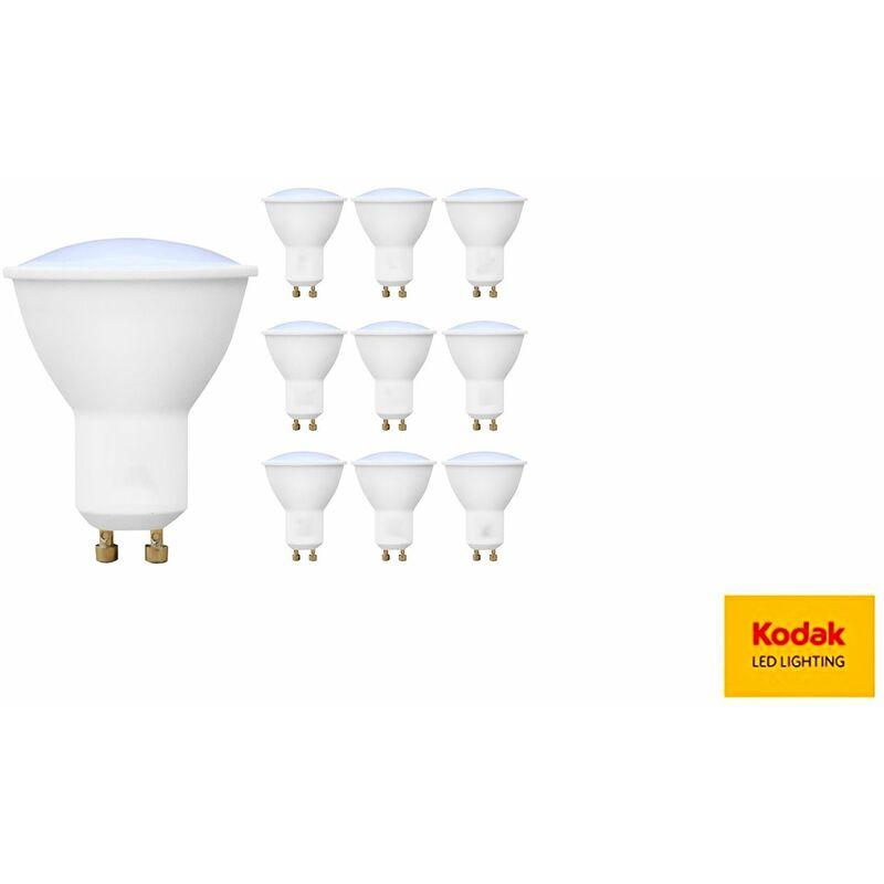 10Pz Faretto LED lampadina 7W SMD GU10 71050 EU-2700 luce calda - Kodak