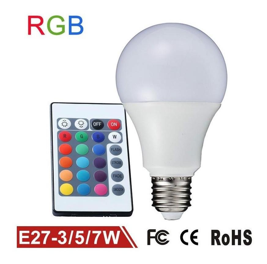 Lampada Per Faretto A Led.Lampadina Lampada Faretto Led Rgb Con Telecomando Luce Multicolor E27 Da Interno
