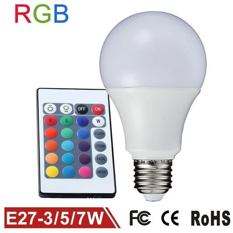 Lampada Led Con Telecomando.Lampadina Lampada Faretto Led Rgb Con Telecomando Luce Multicolor