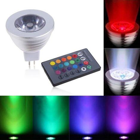 Lampadina lampada faretto led rgb telecomando luce colori for Faretto led rgb
