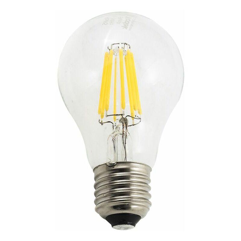 Lampadina led 8W luce calda E27 filamento edison vetro A60 Kodak 40603 EU3000