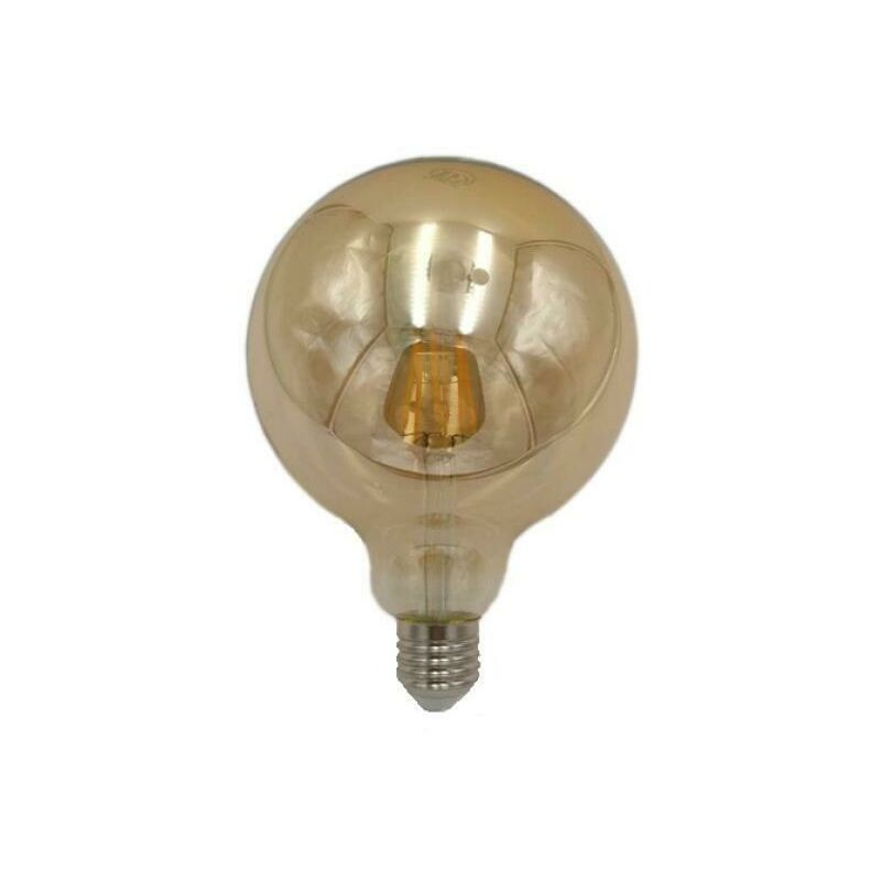 Lampadina led e27 6w modello g125 oro lampadine attacco grosso vite kit 2pz