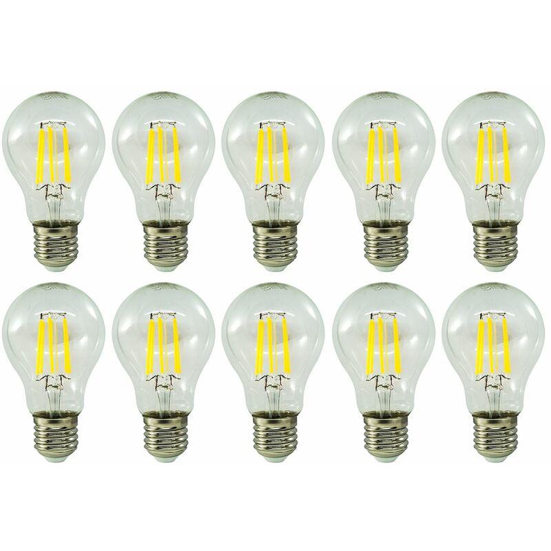 LAMPADINA LED FILAMENTO 41070 EU4000 EDISON VETRO BULBO A60 E27 10 PZ - Kodak