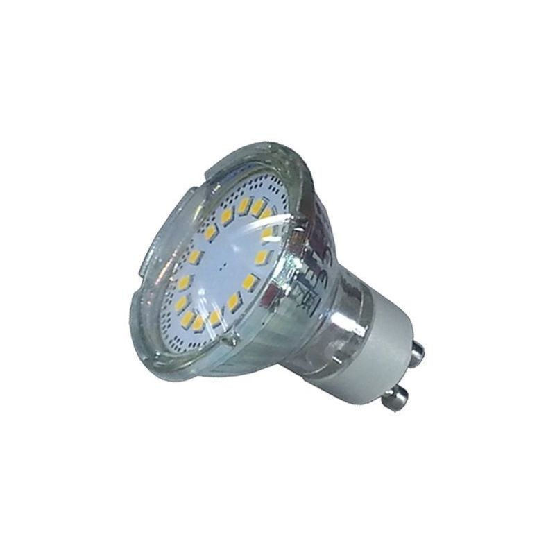 Faretto LED GU10 SMD 3W in Vetro 6000K°