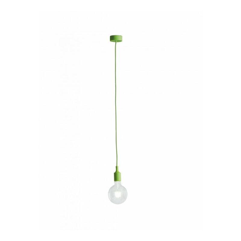 Lampadario sospeso verde dalla linea essenziale ma moderno 60 watt E27