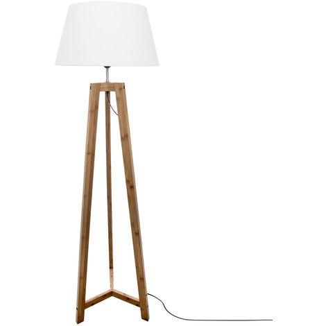 Lampandaire en bambou Bambo - H. 153 cm - Blanc