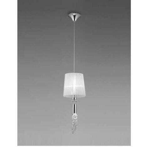 Lámpara 1 Luz SERIE TIFFANY ACABADO Chrome