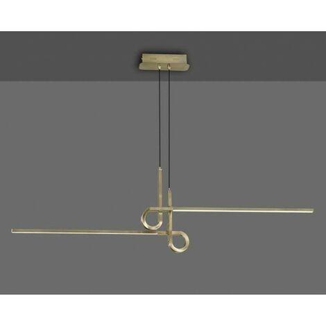 Lámpara 24W led para dormitorio SERIE CINTO dorado satinado