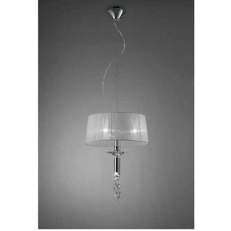 Lámpara 3 Luces SERIE TIFFANY ACABADO Chrome
