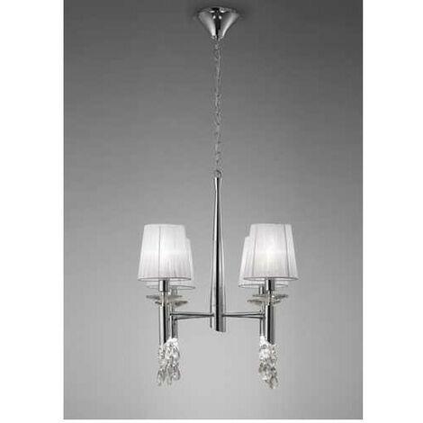 Lámpara 4 Luces SERIE TIFFANY ACABADO Chrome