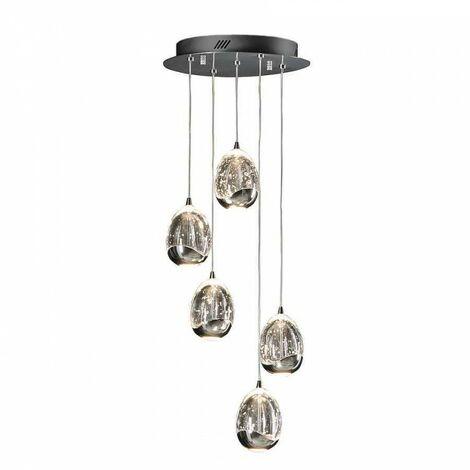 Lámpara 5 luces, ROCIO cromo DIMABLE