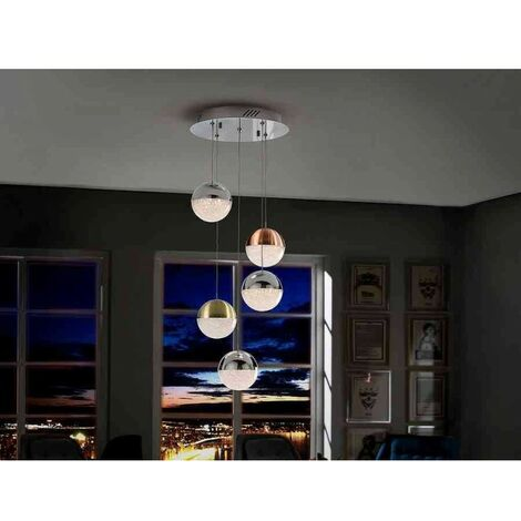 Lámpara 5 luces SPHERE COLOR led de Schuller