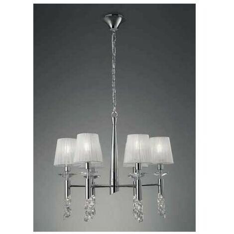 Lámpara 6 Luces SERIE TIFFANY ACABADO Chrome