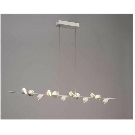 Lámpara ADN lineal led 36w para comedor, acabado blanco mate