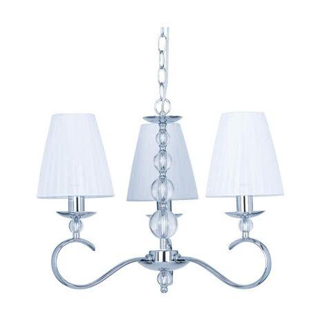 Lámpara Alabama blanco/cromo regulable D45