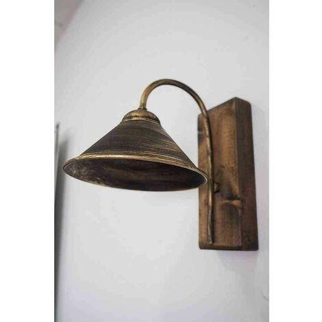 Lámpara aplique de pared con pantalla de metal 1 luz