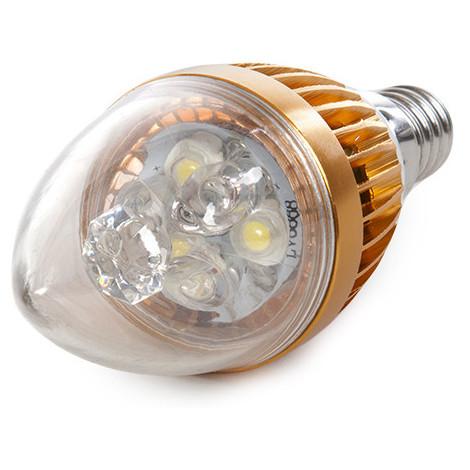 Bombilla de LEDs Vela E14 3W 12VAC/Dc 240Lm 30.000H | Blanco Frío (JL-12V-E14-3W-CW)
