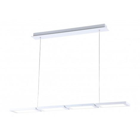 "main image of ""LAMPARA COLGANTE 4 LUCES LED OR Color Blanco"""