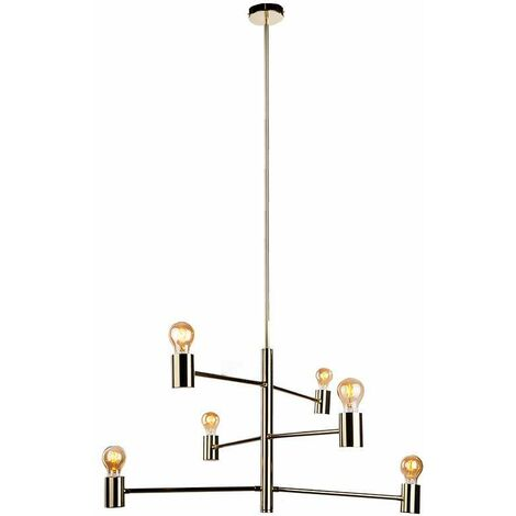 Lámpara Colgante 6 Bulbs Chandelier Movable