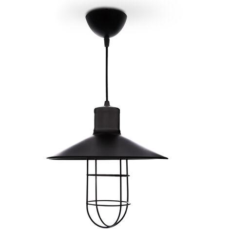 Lámpara Colgante Acero Ø 265Mm (Sin Bombilla) Negro Payton [SKD-P010-B]   Sin Bombilla/Ver Accesorios (SKD-P010-B)