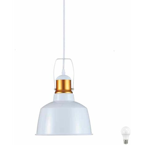 Lámpara colgante ALU habitación lámpara de techo de pasillo techo blanco en conjunto incl. lámparas LED