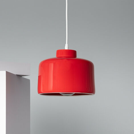 Lámpara Colgante Bakuli Gabarró Rojo