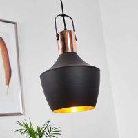 Lámpara colgante Batu elegante, interior dorado